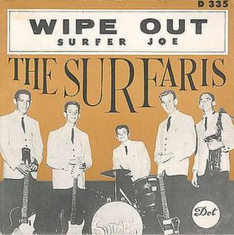 Wipe Out (instrumental) - Image: Surfaris Wipeout single
