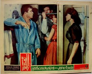 Tall Story - Original poster image 1960. Shower scene