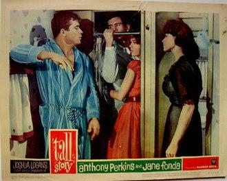 Tall Story - Original poster image 1960. Shower scene