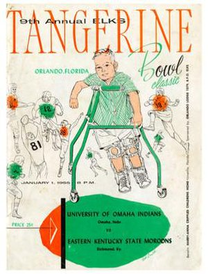 1955 Tangerine Bowl - Program cover for 1955 game