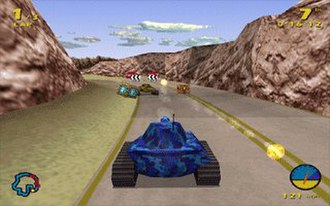 Tank Racer - Screenshot of one of the levels.