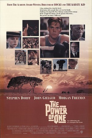 The Power of One (film) - Theatrical release poster