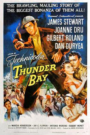Thunder Bay (film) - film poster by Reynold Brown