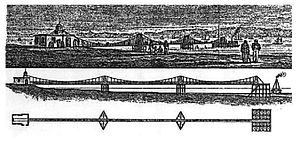 Trinity Chain Pier - Plan of the pier, from Brown's book