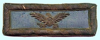 Colonel (United States) - A shoulder strap from an infantry colonel in the Union Army