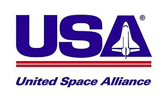 United Space Alliance - United Space Alliance's original logo featured the Space Shuttle orbiter, it was changed to the current logo in 2008.