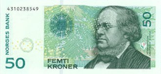 Banknotes of the Norwegian krone - Image: VII 50 forside 200