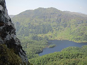 Wooded area of the Trossachs and Loch Katrine.jpg