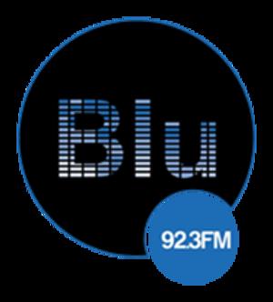 XHOI-FM - Image: XHOI Blu FM92.3 logo
