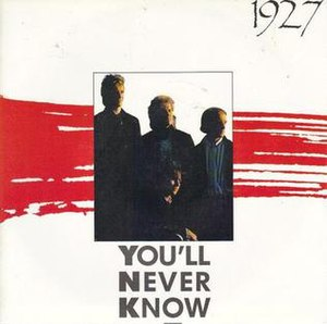 You'll Never Know (1927 song) - Image: You'll Never Know by 1927