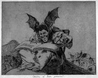 Enrique Chagoya - 'Against the Common Good II', etching and aquatint by Enrique Chagoya, 1983