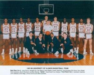 1987–88 Illinois Fighting Illini men's basketball team - Image: 1987–88 Illinois Fighting Illini men's basketball team