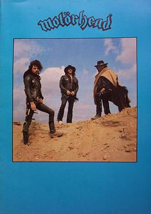 "Motörhead - Cover of the ""Ace Up Your Sleeve"" tour booklet, using one of the shots taken during the photography session in Barnet for the Ace of Spades album cover"