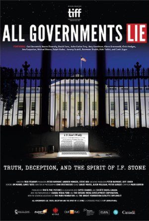 All Governments Lie: Truth, Deception and the Spirit of I. F. Stone - Image: All Governments Lie poster