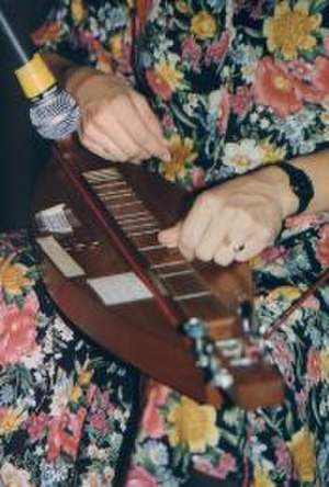 Appalachian dulcimer - Closeup of Aubrey Atwater playing dulcimer.