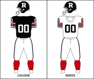 1986 Ottawa Rough Riders season - Image: CFL OTT Jersey 1986