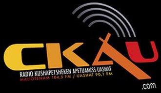 CKAU-FM - Image: CKAU 104.5fm logo