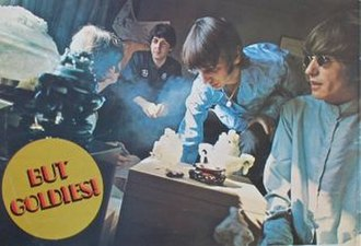 A Collection of Beatles Oldies - The Robert Whitaker photograph used on the back of the LP cover. The photo later provided clues in the Paul is Dead urban myth, as well as the inspiration for the cover of Oasis' 1994 album Definitely Maybe.