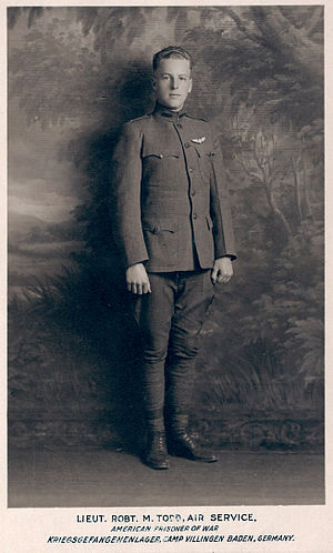 Robert Miles Todd - Todd at the POW camp where he was taken after being shot down.