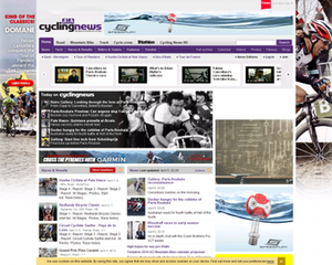 Cyclingnews.com - Image: Cyclingnews.com screenshot