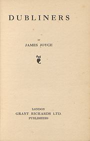 The title page of the first edition of Dubliners.