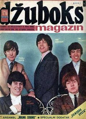 Džuboks - Cover of the first issue of Džuboks, released on 3 May 1966, featuring the Rolling Stones.