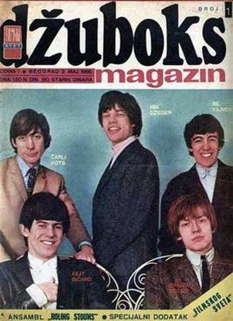 Džuboks - First issue of Džuboks, released on 3 May 1966, features the Rolling Stones on the cover.