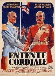 <i>Entente cordiale</i> (film) 1939 film by Marcel LHerbier