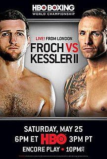 Carl Froch vs. Mikkel Kessler II Boxing competition