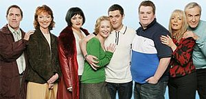 Gavin & Stacey main characters, left to right:...
