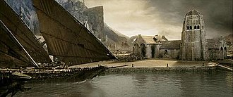Gondor - Corsair ships at Harlond, as depicted in The Lord of the Rings film trilogy