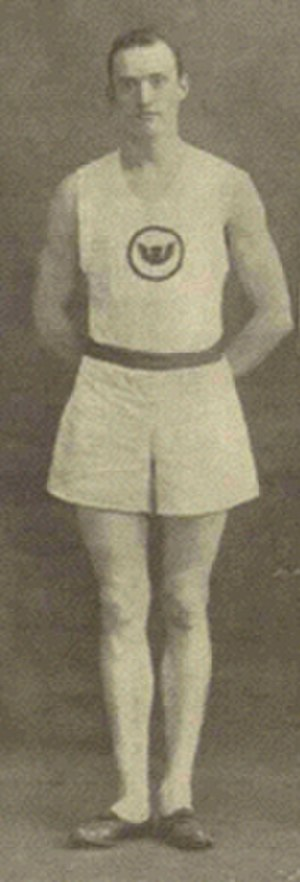Harry Gissing - Harry Gissing, wearing the Winged Fist of the Irish American Athletic Club, 1911.