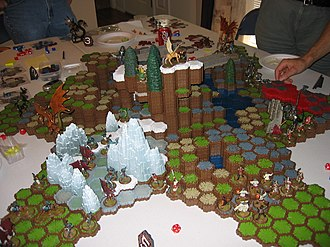 Heroscape - A six-man game of Heroscape using multiple Master Sets and expansion sets.