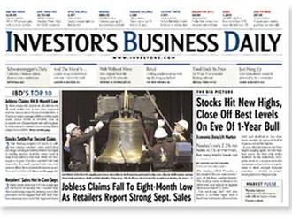 Investor's Business Daily - Image: Investor's Business Daily (front page)