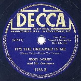 It's the Dreamer in Me - 1938 Decca 78 single, 1733B.