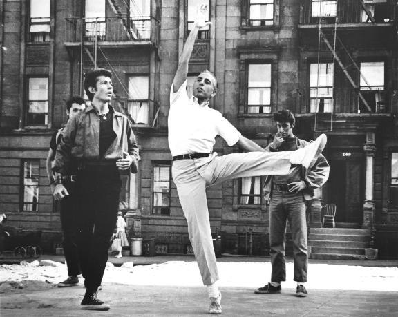 Jerome Robbins at rehearsal for West Side Story