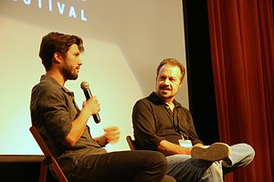 Crested Butte Film Festival - Director Ed Zwick (right) interviews Jesse Zwick (left) for About Alex.