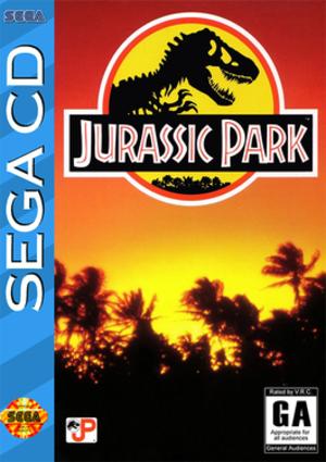Jurassic Park (Sega CD video game) - North American cover art