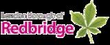 Officiell logotyp för London Borough of Redbridge