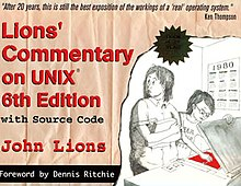Lions Commentary On Unix 6th Edition With Source Code Wikipedia