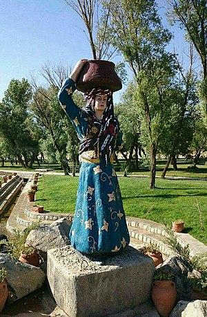 Feyli Lurs - A Feyli Lur woman statute, Luristan, Iran.