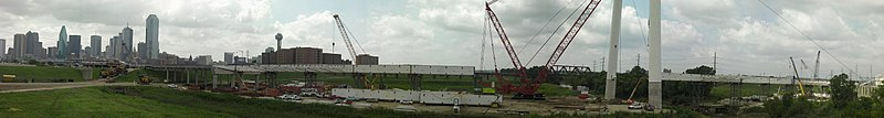 July 7, 2010 - Margaret Hunt Hill Bridge Construction