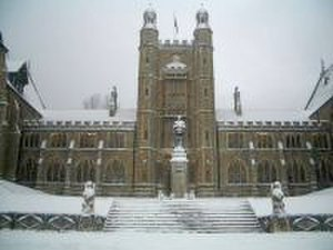 Malvern College - Main College in snow