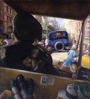 "1928 in art - Image: Mc Evoy ""Taxi! Taxi!,"""