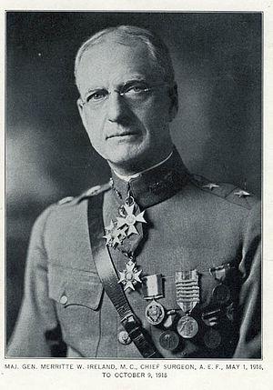 Merritte W. Ireland - Maj. Gen. Ireland in 1918