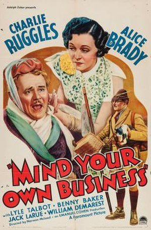 Mind Your Own Business (film) - Theatrical release poster