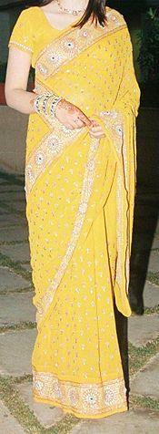 A North Indian girl wearing a sari
