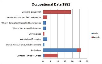 Peover Inferior - Occupational data for 1881