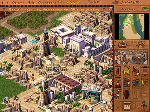 Pharaoh (video game) - Image: Pharaoh screenshot