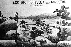 Antimafia Commission - Mural of the Portella della Ginestra massacre